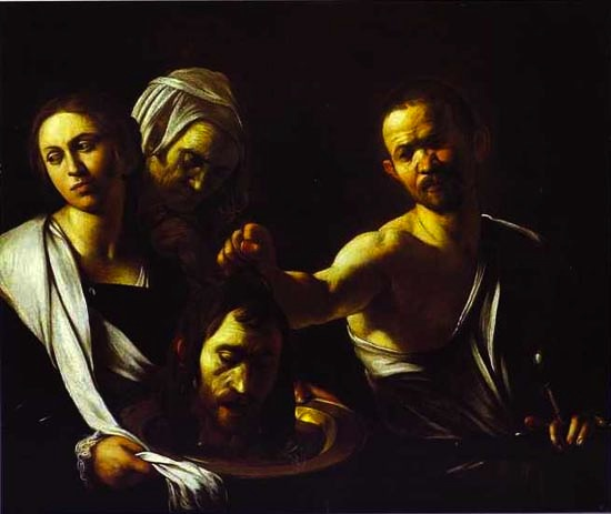 "Caravaggio, ""Salome with the Head of John the Baptist,"" 1607"