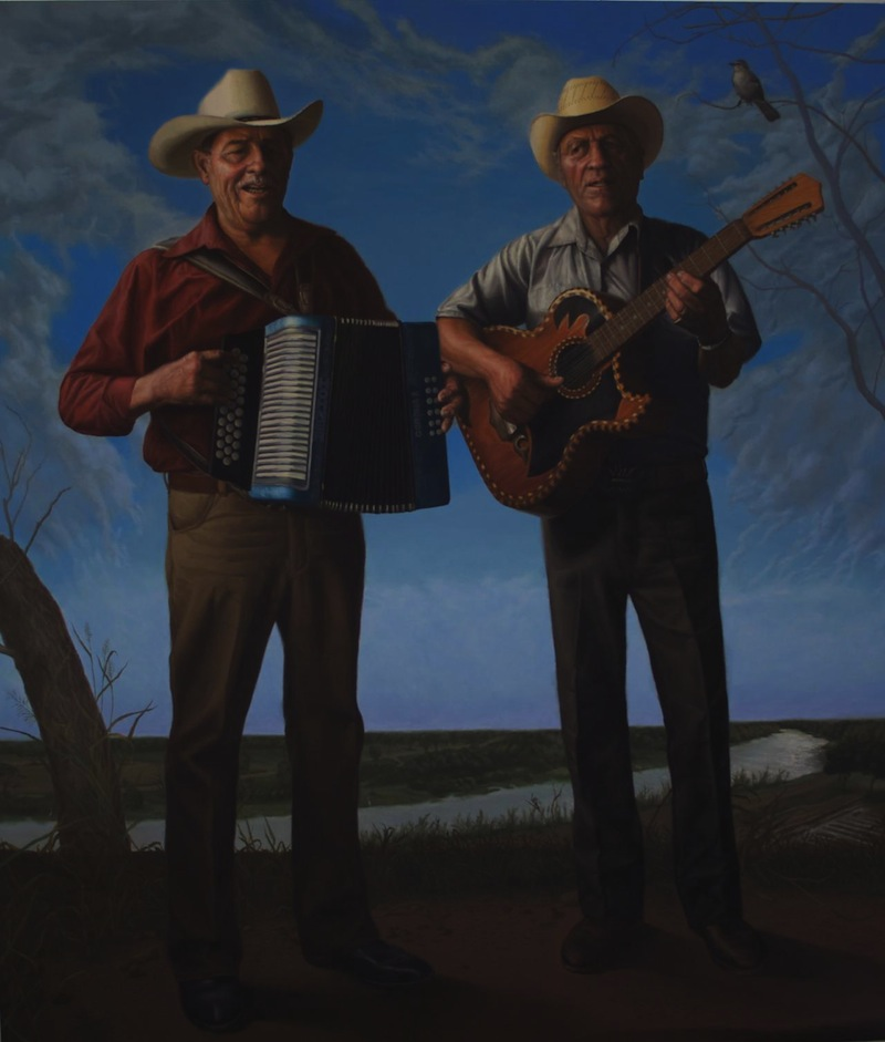 """Conjunto del Bravo,"" Oil on linen 8ft. X 7ft."