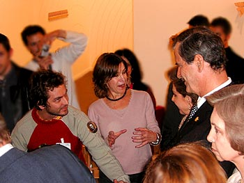 Vicente Fox with the artist Máximo González and gallerist Haydeé Rovirosa in Madrid in 2005, Changarrito not shown in photo