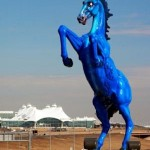 &quot;Mustang,&quot; a 32-foot tall, 9000 lb. cast fiberglass sculpture at Denver International Airport.