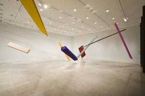 Joel Shapiro, New Installation, 2012, Rice University Art Gallery, Photo: Nash Baker