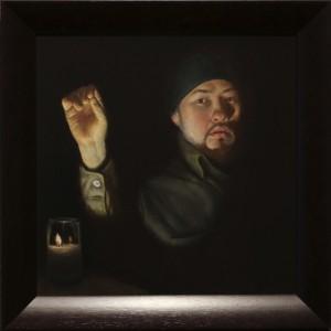 """Autoretrato (Self portrait)"" oil on linen 24in by 22in"