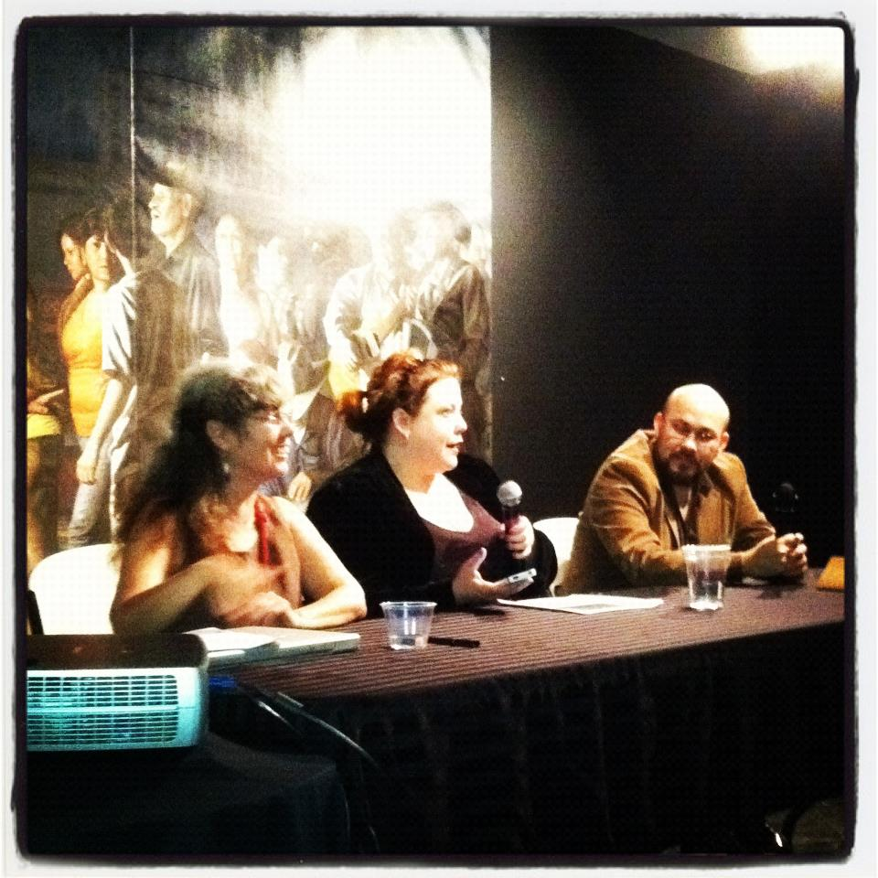 The panel. Delilah, me, and Rigoberto. This was just so much damn fun.