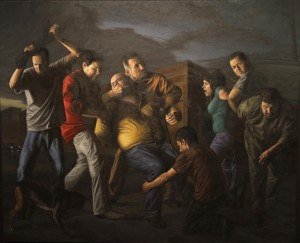 Levanton (The Kidnapping) oil on linen 7ft by 8 ft