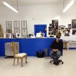 Rigoberto Gonzalez in his Harlingen studio, February 25, 2012.