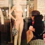 window mannequin lady