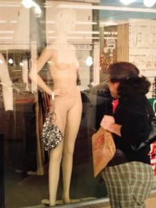 window mannequin lady