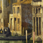 """Arsonist in Venice"", from Canaletto's Entrance to the Grand Canal, Venice (c. 1730)"