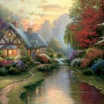 Thomas Kinkade, A Quiet Eveningm