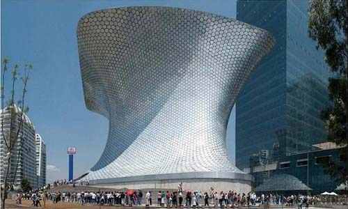The Museo Soumaya, Mexico City, image from http://www.arnewde.com