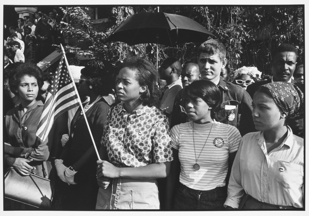 SNCC workers outside funeral