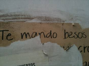 Te mando besos (I send you kisses), seen on calle Monterrey, Mexico City