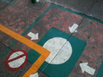 Punto de encuentro (meeting point), calle San Luis Potosi, Colonia Roma, Mexico City