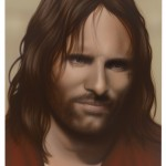 "Rachel Hecker, ""Jesus #1 (Viggo Mortensen/Lord of the Rings),"" 2011, Acrylic on canvas, 48 x 34 inches, Courtesy the artist and Texas Gallery, Houston, Photo: Thomas DuBrock"