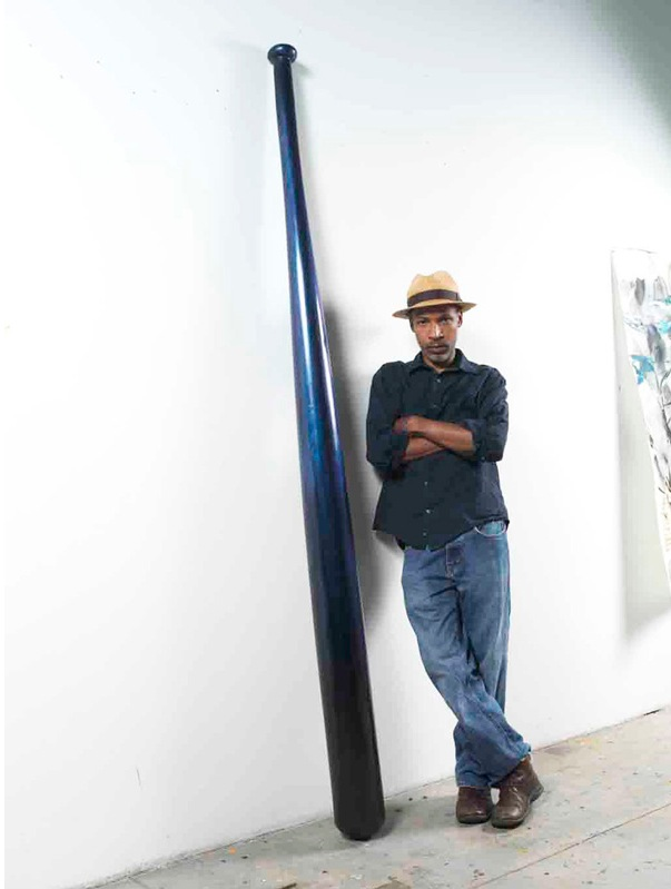 Radcliffe Bailey portrait with Clean up II