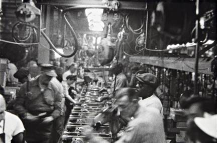 Robert Frank , Assembly Line, Detroit, from the series The Americans, 1955.