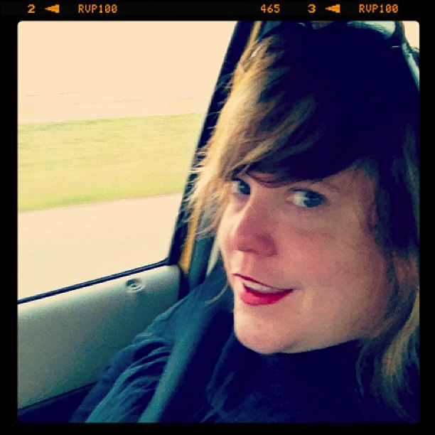 Me, January 2012, leaving Corpus. Photo by Nelda Garcia.