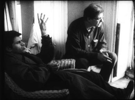 Robert Frank and Alfred Leslie, still image from the 16mm film Pull My Daisy, 1959.