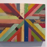 Patrick Renner, Sunburst, 2012. Found painted wood and polyurethane.