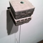 "Emily Stergar, ""Land Sample XVII,"" cast concrete, steel, copper, wood, tile."