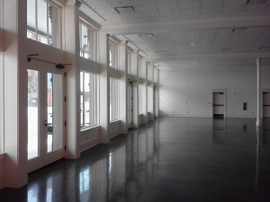 The beautiful, but empty, Grapevine Convention Center, hungry for art