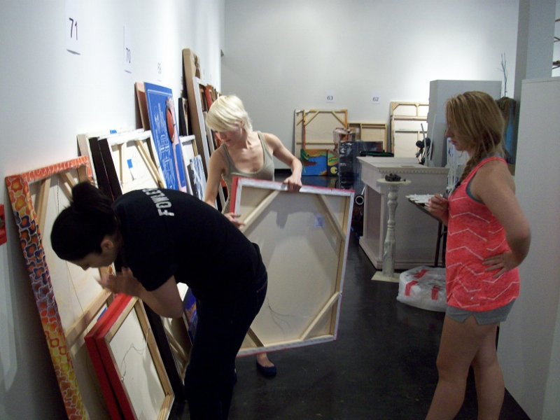 Big Show Drop-off. Photo courtesy Lawndale Art Center