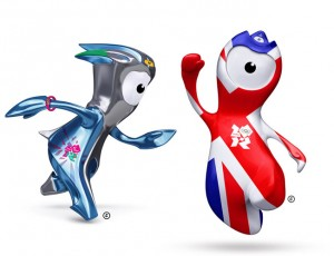 You may think you are watching the olympics, but Wenlock and Mandeville are watching you.