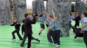 Jeremy Deller's wonderful, bouncy stonehenge (titled Sacrilege)