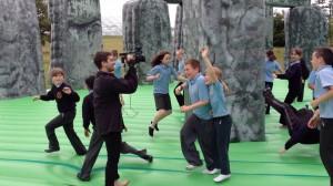 Jeremy Deller's wonderful, bouncy stonehenge (titled Sacrilege)