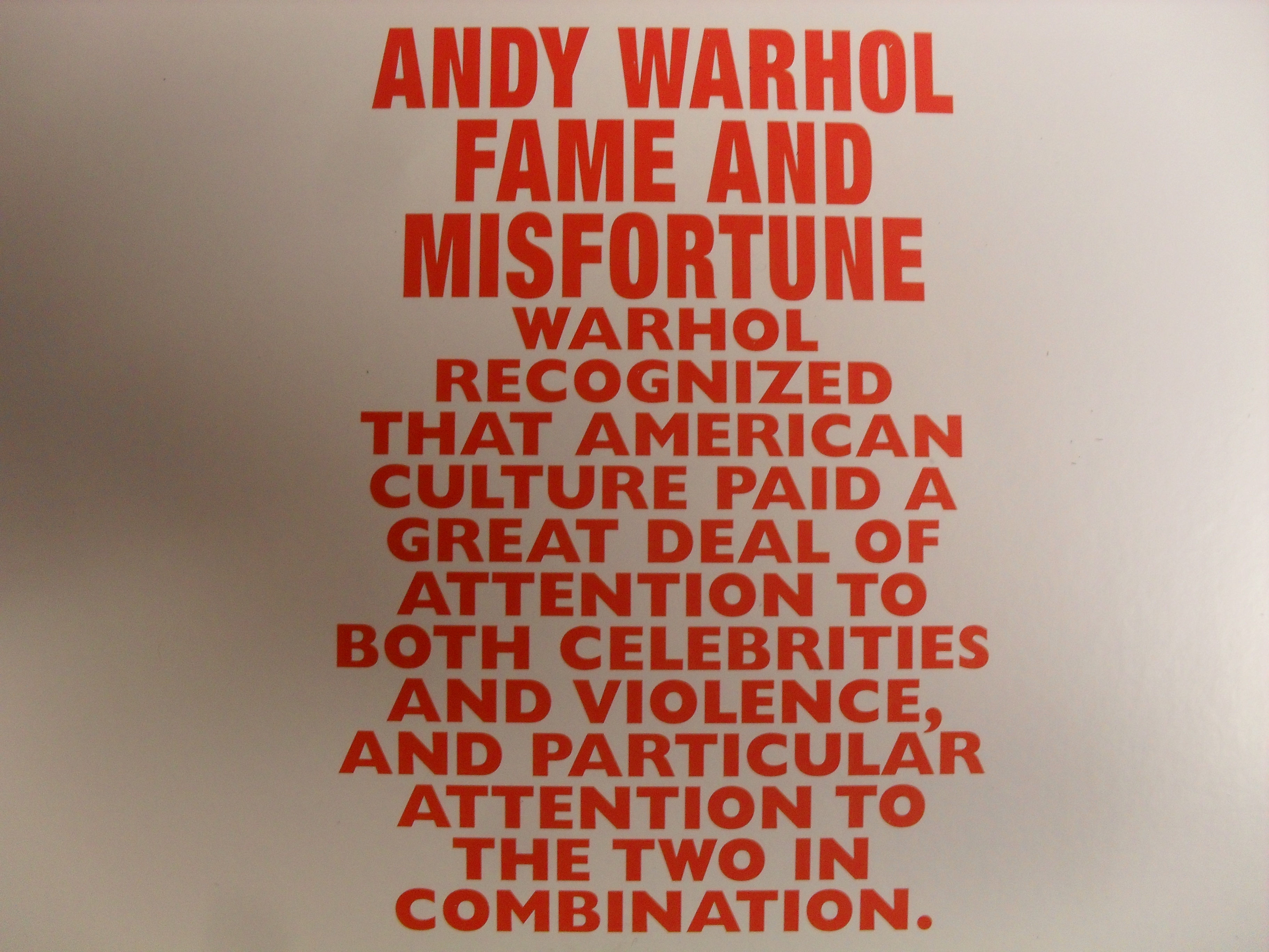 "If you caught ""Andy Warhol: Fame and Misfortune"" at the McNay in San Antonio, you probably won't need to read this article."