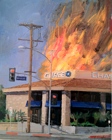 "Alex Schafer, ""Chase Venice,"" oil on canvas, 2011."