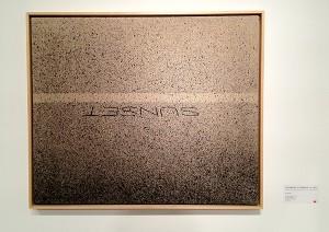 "Ed Ruscha, ""Above Sunset,"" acrylic on linen, 1999."