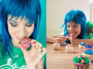 If you can pull off the blue hair thing AND act like a 5 year old, you're golden.