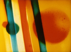 Still from the film Color Cry, Len Lye, 16mm, 1953