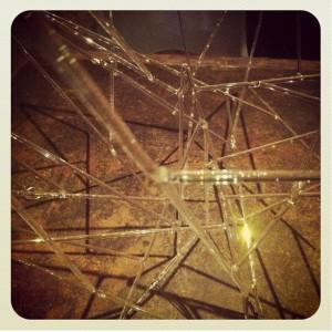 An instagram impression of some of J. Parr's glasswork.