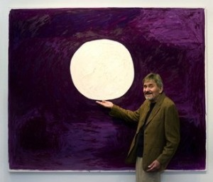 Bill Komodore with Sun Painting, photo: Teresa Rafidi