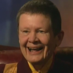 Pema Chodron, an American Buddhist nun and one of the leading teachers within Shambhala Buddhism  because I like my spiritual teachers to look as much like Judi Dench as possible.