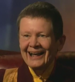 Pema Chodron, an American Buddhist nun and one of the leading teachers within Shambhala Buddhism — because I like my spiritual teachers to look as much like Judi Dench as possible.