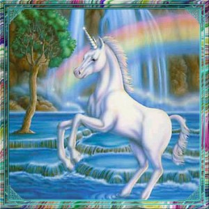 I know I would certainly rather look at a nice unicorn than your art.