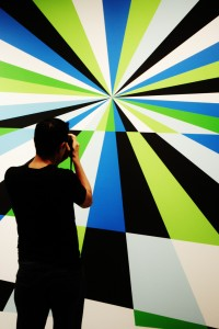 FLYAWAY (detail), 7 x 56 ft, Acrylic wall painting, 2012