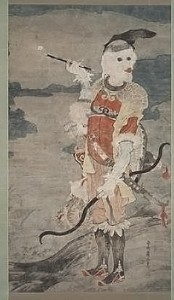 Soga Shōhaku, Western Hunter, c. 1765–70, ink and color on paper, the Kimiko and John Powers Collection of Japanese Art.