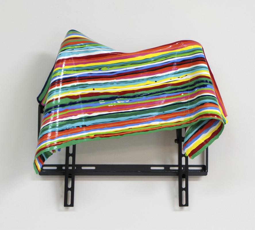 Judy Rushin, People TV. acrylic, flat screen TV mount. 2012