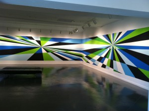 FLYAWAY, 7 x 56 ft, Acrylic wall painting, 2012, Photo: Beth Schaller