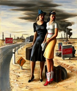 Jerry Bywater, Oil Field Girls, 1940