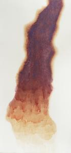 "Hot Glacier, 2012, watercolor on paper, 66"" x 32"""
