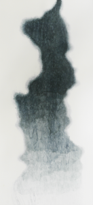 "Black Glacier, 2012, watercolor on paper, 66"" x 32"""