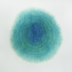Ice Balloon (Cryosphere), 2012, watercolor on paper, 52 1/4&quot; x 53 1/2&quot;