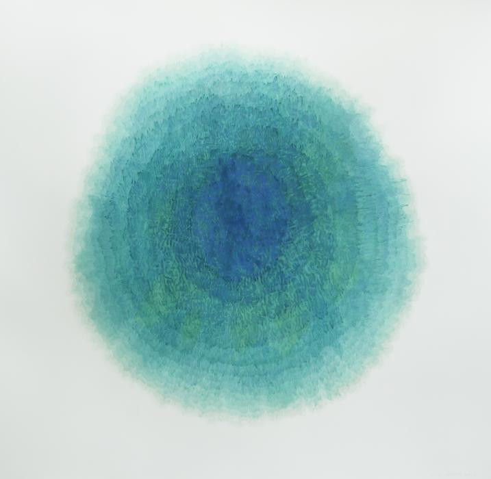 "Ice Balloon (Cryosphere), 2012, watercolor on paper, 52 1/4"" x 53 1/2"""