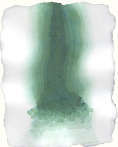 """Glacial Ghost Study II, 2010, watercolor on paper, 12 3/4"""" x 10"""""""