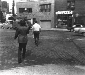 Vito Acconci, Following Piece, 1969, New York City